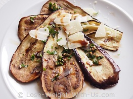 Grilled Aubergine Salad or Eggplant Salad Recipe
