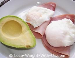Avocado, Ham and Poached Eggs