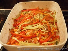 Fennel, Bell Peppers, Onion and Tomatoes Cooked