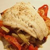 Baked Cod with Red Pepper, Fennel and Tomatoes