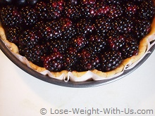 Blackberry Pie Before Cooking