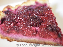 Slice of Cooked Blackberry Pie