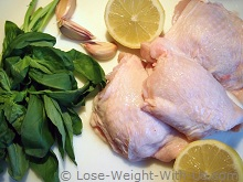 Ingredients for Baked Chicken Thighs