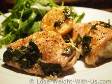 Baked Chicken Thighs Served