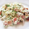 Dill Scrambled Eggs with Ham