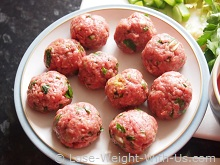 Italian Meatballs Ready to Cook