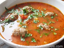 Italian Meatball Soup Served