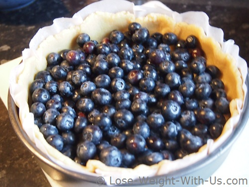 Blueberry Pie Ready for Cooking