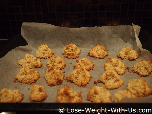 Coconut Biscuits Cooked