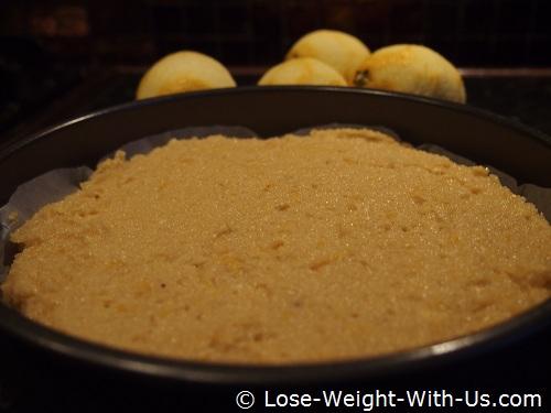 Lemon Cake Ready for Cooking