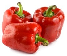 Calories in Red Peppers