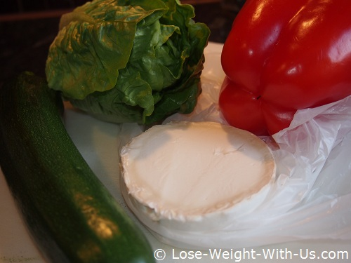 Ingredients for the Goats Cheese Salad
