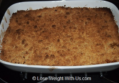 Apple Crumble is now Cooked