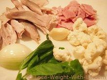 Ingredients for the Chicken Cauliflower Soup