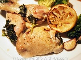 Baked Chicken Thigh Recipe with Basil and Lemon