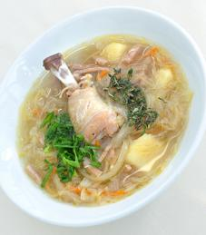 Cabbage and Chicken Soup