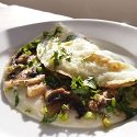 Egg White Mushroom Omelette