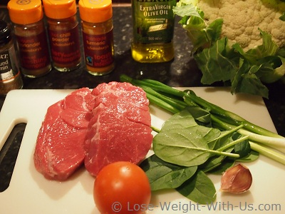 Ingredients for a Lamb Curry