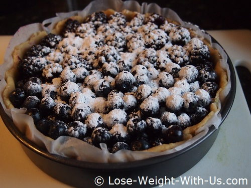 Blueberry Pie Ready for Cooking With Sweetener