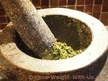 Preparing the Herb Mix