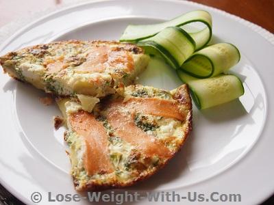 Recettes de frittata au saumon fumé - 320 calories
