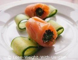 Cream Cheese and Smoked Salmon Rolls